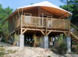 Tente Lodge Panorama 4 personnes - 2 chambres -20 m² + 12 m² de terrasse couverte